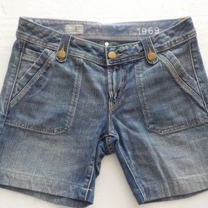 Gap 1969 Flare Light Denim Shorts